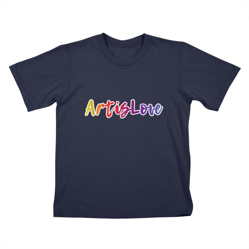 Art is Love Dark Kids T-Shirt by Art is Love Artist Shop