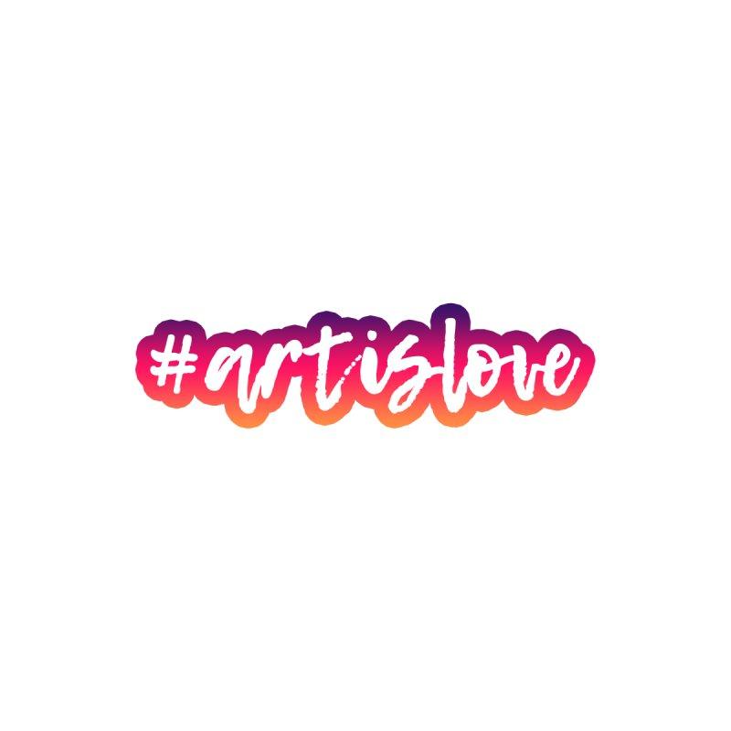 Purple & Pink #artislove logo Women's Zip-Up Hoody by Art is Love Artist Shop