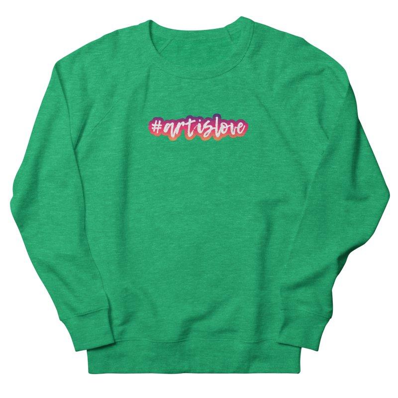 Purple & Pink #artislove logo Women's Sweatshirt by Art is Love Artist Shop