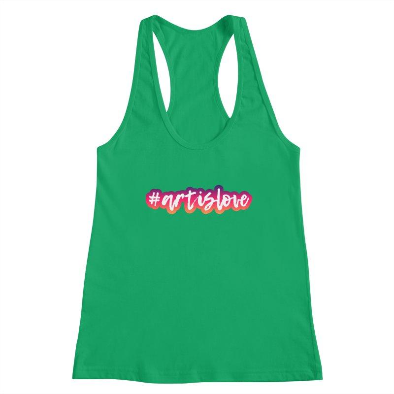 Purple & Pink #artislove logo Women's Tank by Art is Love Artist Shop