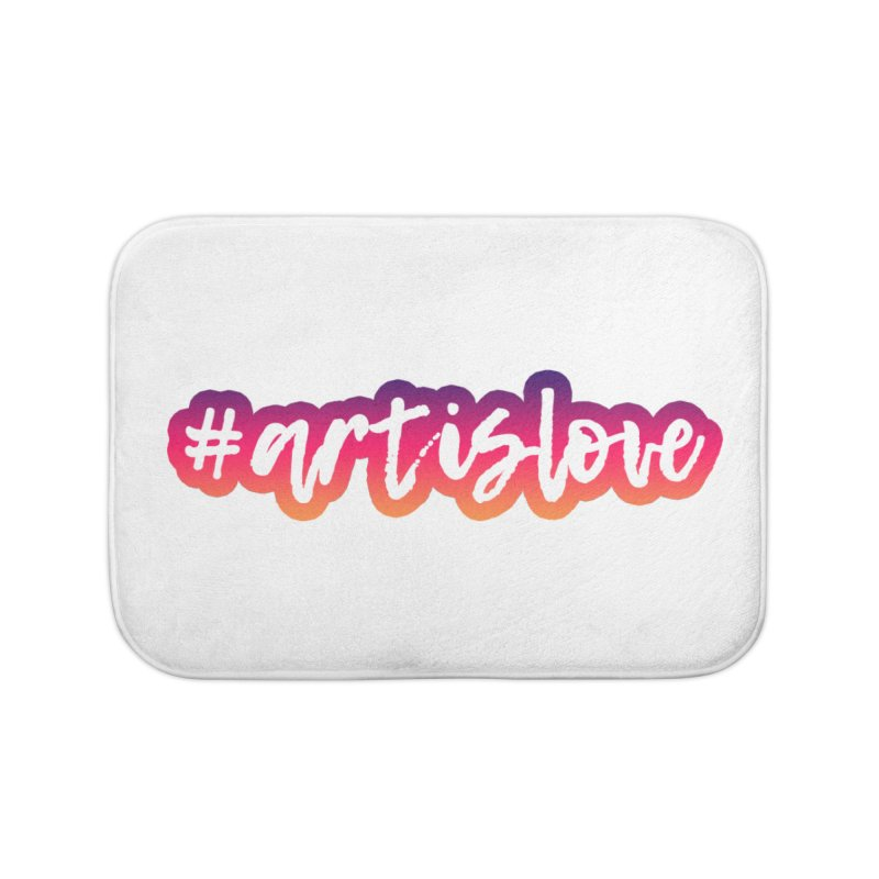 Purple & Pink #artislove logo Home Bath Mat by Art is Love Artist Shop