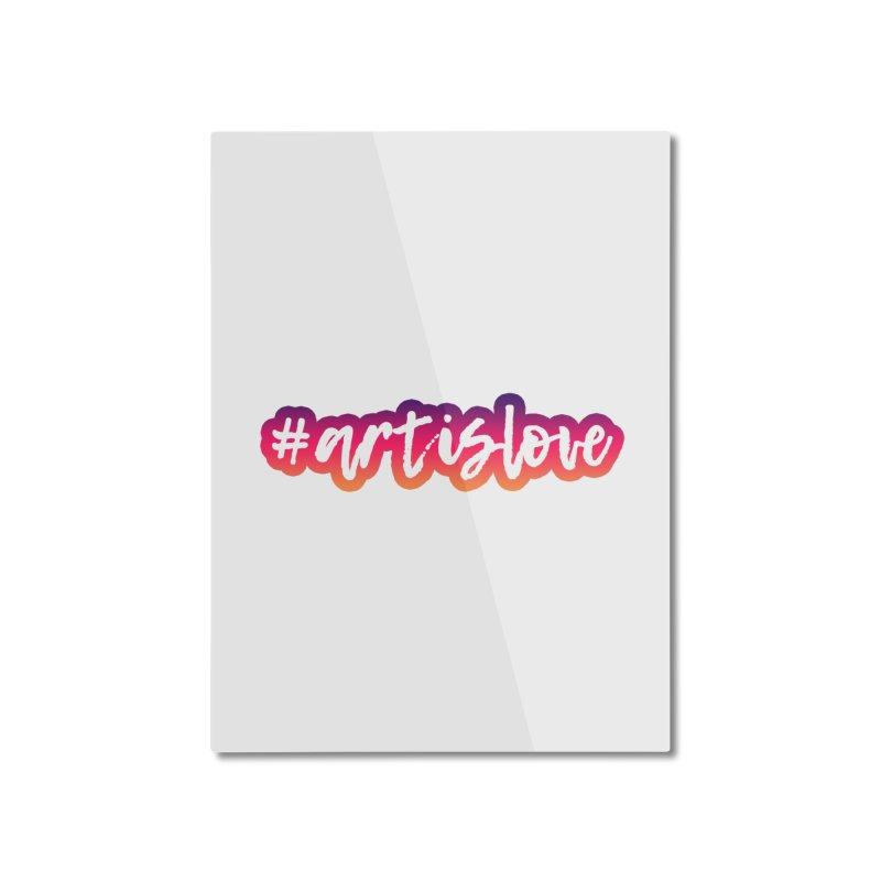 Purple & Pink #artislove logo Home Mounted Aluminum Print by Art is Love Artist Shop