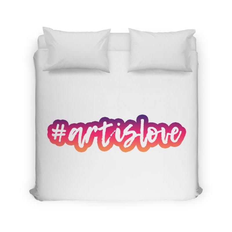 Purple & Pink #artislove logo Home Duvet by Art is Love Artist Shop