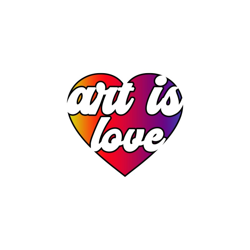 Art is Love Heart Logo Accessories Greeting Card by Art is Love Artist Shop