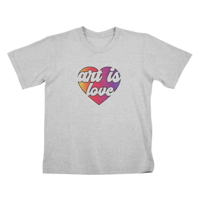 Art is Love Heart Logo Kids T-Shirt by Art is Love Artist Shop