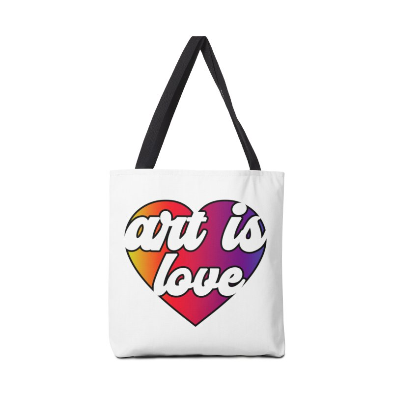 Art is Love Heart Logo Accessories Bag by Art is Love Artist Shop