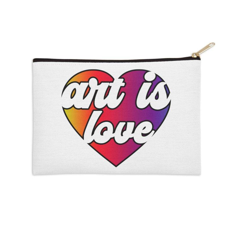 Art is Love Heart Logo Accessories Zip Pouch by Art is Love Artist Shop