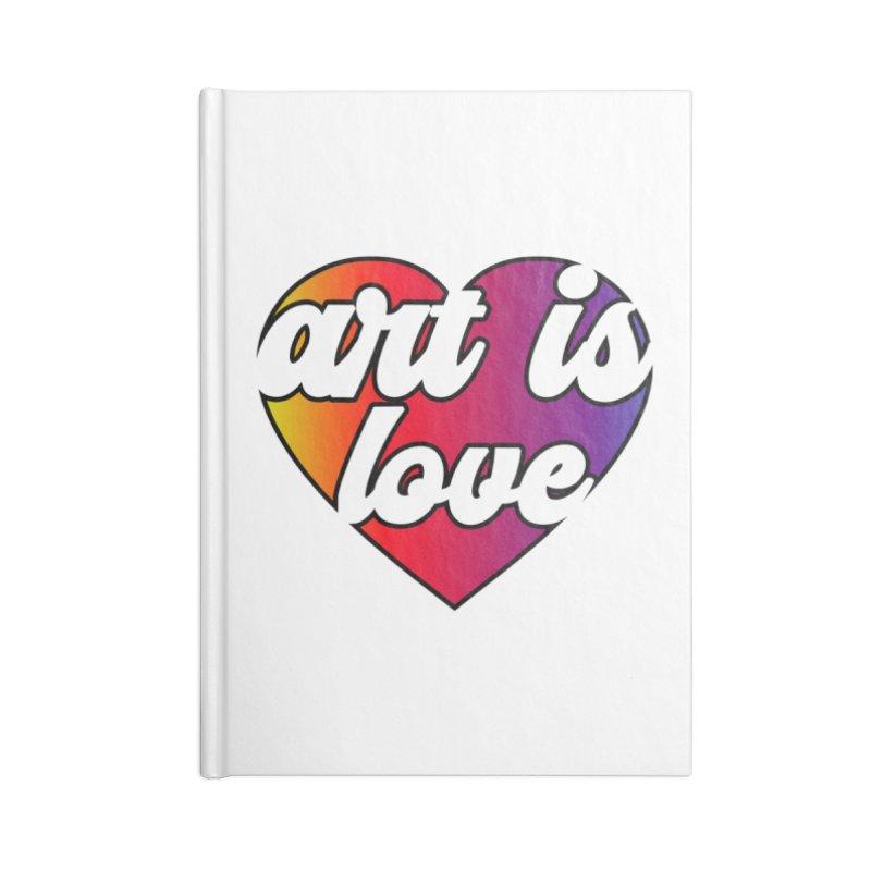 Art is Love Heart Logo Accessories Notebook by Art is Love Artist Shop