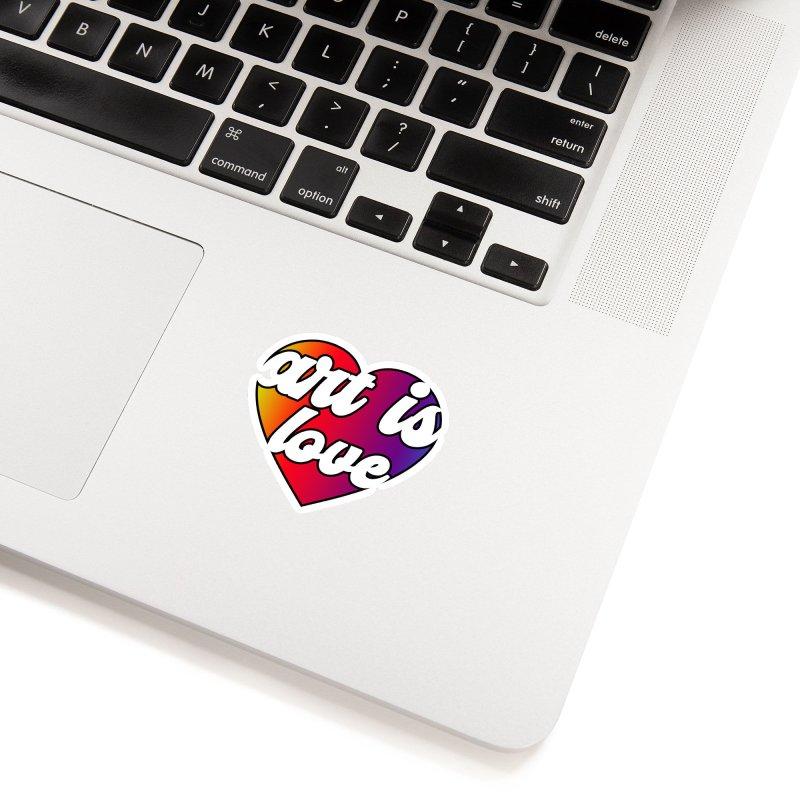 Art is Love Heart Logo Accessories Sticker by Art is Love Artist Shop