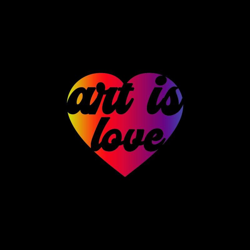 Art Is Love Heart Logo - Dark Women's V-Neck by Art is Love Artist Shop