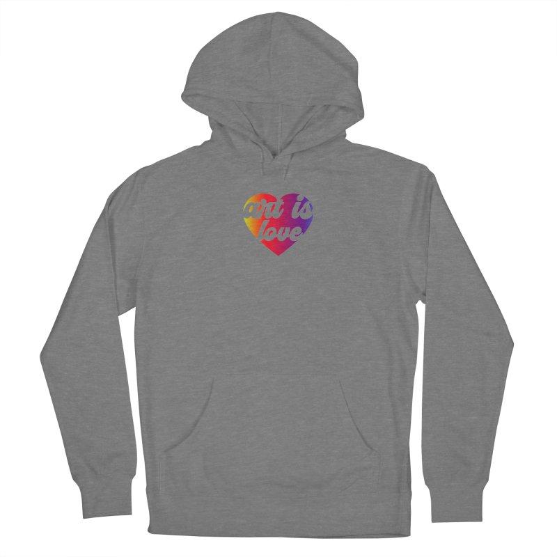 Art Is Love Heart Logo - Dark Women's Pullover Hoody by Art is Love Artist Shop