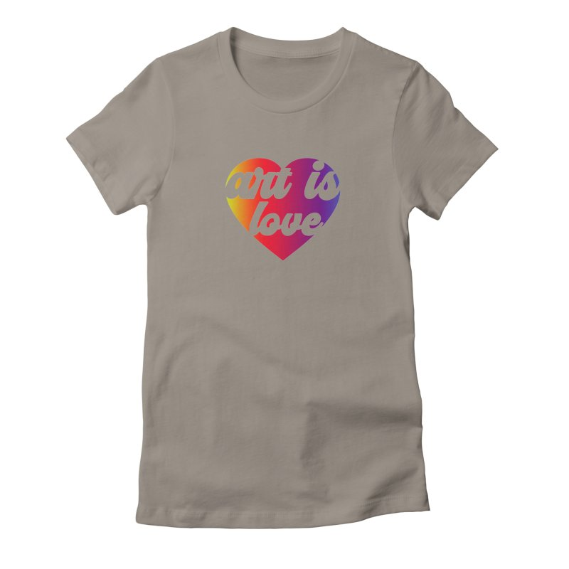 Art Is Love Heart Logo - Dark Women's T-Shirt by Art is Love Artist Shop