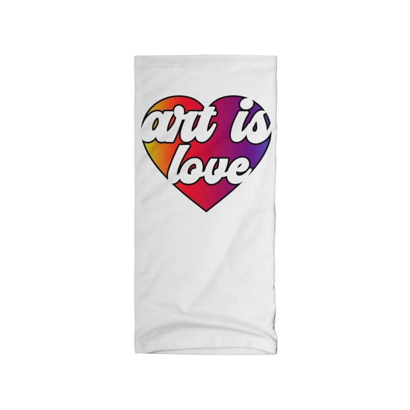 Art is Love Rainbow Heart Accessories Neck Gaiter by Art is Love Artist Shop