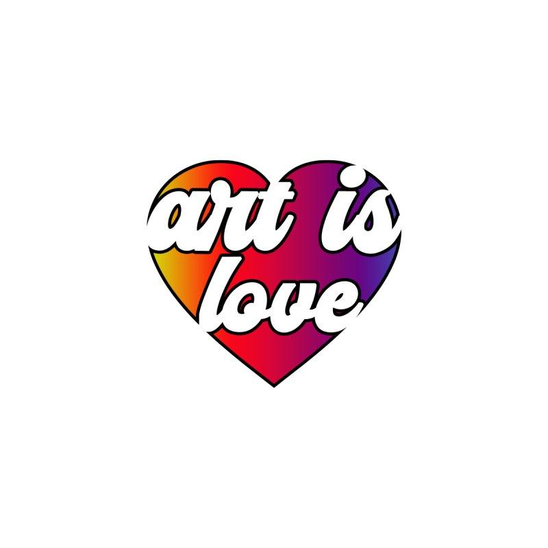 Art is Love Rainbow Heart Kids Pullover Hoody by Art is Love Artist Shop