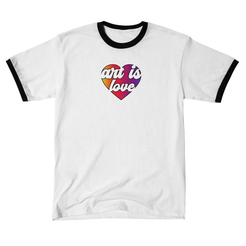 Art is Love Rainbow Heart Men's T-Shirt by Art is Love Artist Shop
