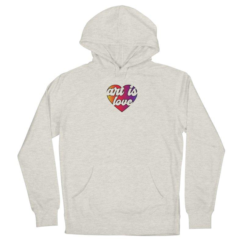 Art is Love Rainbow Heart Men's Pullover Hoody by Art is Love Artist Shop