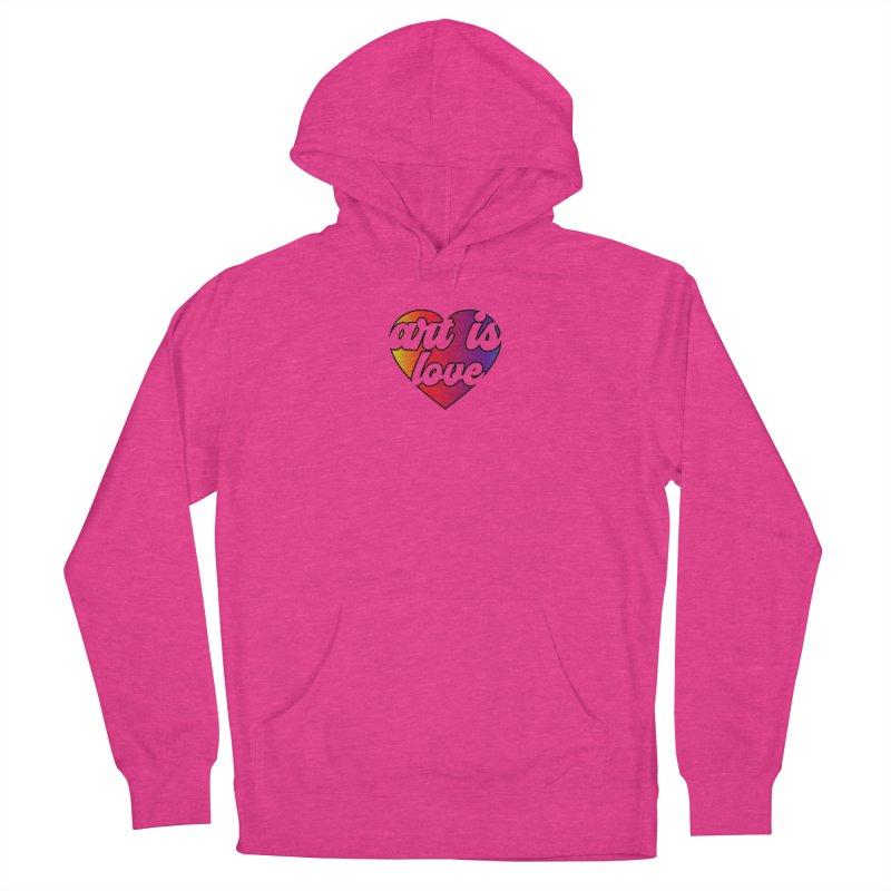 Art is Love Rainbow Heart Women's Pullover Hoody by Art is Love Artist Shop