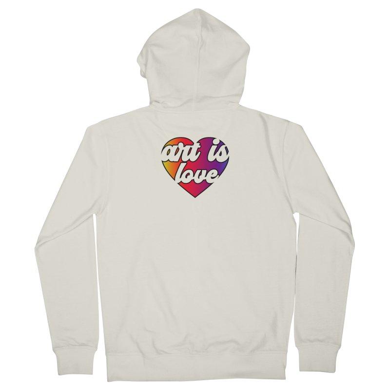 Art is Love Rainbow Heart Women's Zip-Up Hoody by Art is Love Artist Shop