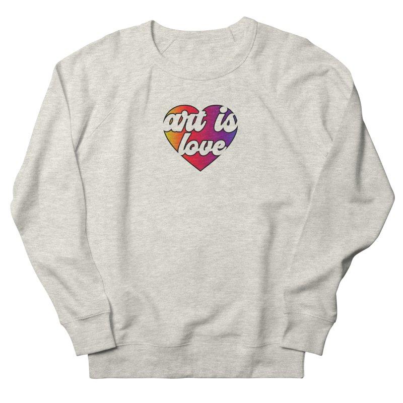 Art is Love Rainbow Heart Women's Sweatshirt by Art is Love Artist Shop