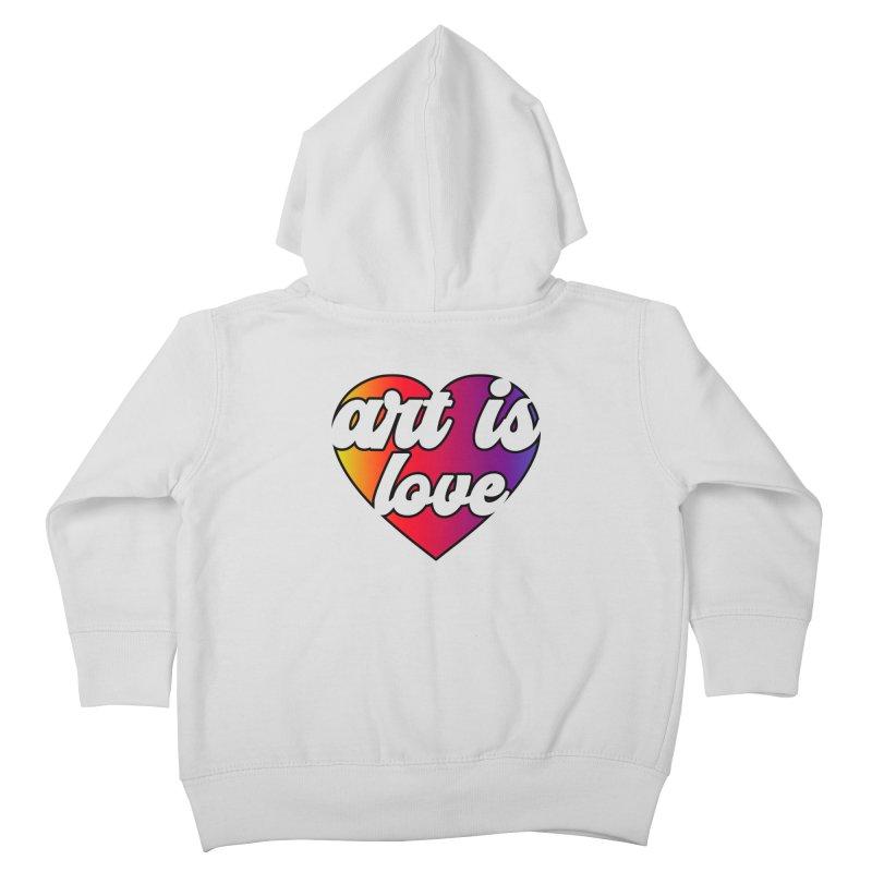 Art is Love Rainbow Heart Kids Toddler Zip-Up Hoody by Art is Love Artist Shop