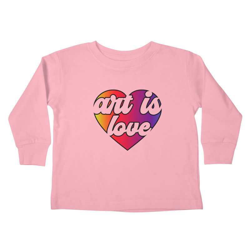 Art is Love Rainbow Heart Kids Toddler Longsleeve T-Shirt by Art is Love Artist Shop