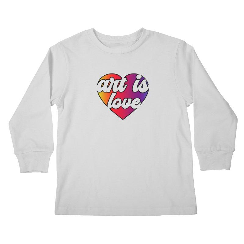 Art is Love Rainbow Heart Kids Longsleeve T-Shirt by Art is Love Artist Shop