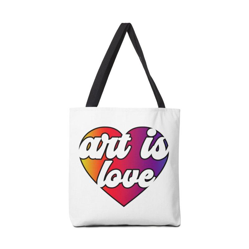 Art is Love Rainbow Heart Accessories Bag by Art is Love Artist Shop
