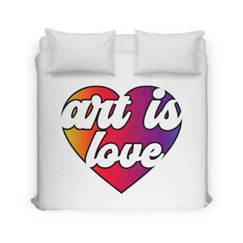 Art is Love Rainbow Heart Home Duvet by Art is Love Artist Shop