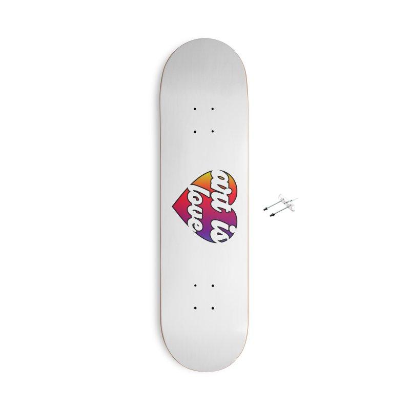 Art is Love Rainbow Heart Accessories Skateboard by Art is Love Artist Shop