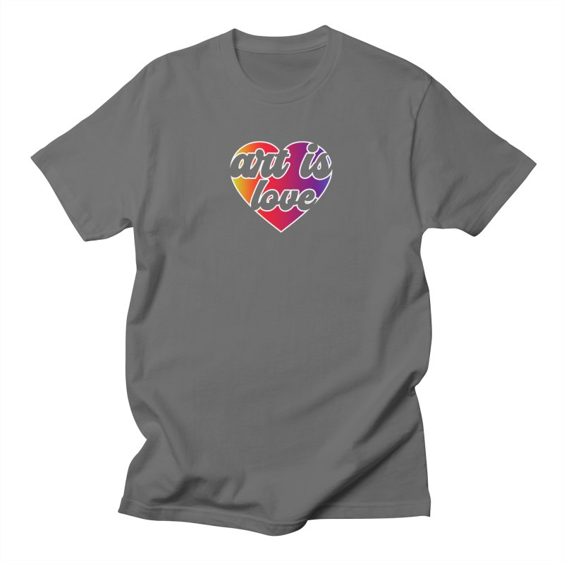 Art Is Love Rainbow Heart Logo with White Outline Men's T-Shirt by Art is Love Artist Shop