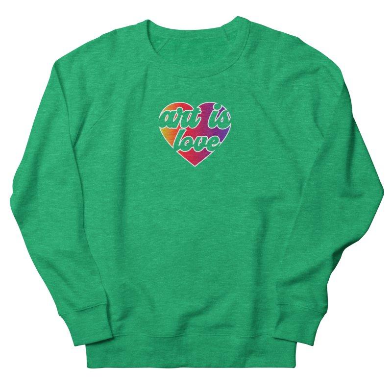 Art Is Love Rainbow Heart Logo with White Outline Women's Sweatshirt by Art is Love Artist Shop
