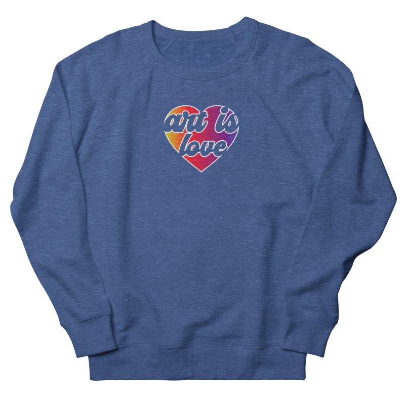 Art Is Love Rainbow Heart Logo with White Outline Men's Sweatshirt by Art is Love Artist Shop