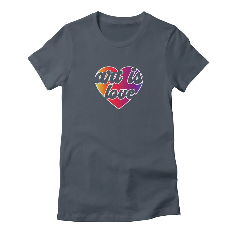 Art Is Love Rainbow Heart Logo with White Outline Women's T-Shirt by Art is Love Artist Shop