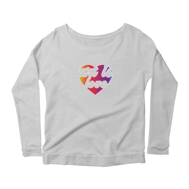 Art Is Love Rainbow Heart Logo with White Outline Women's Longsleeve T-Shirt by Art is Love Artist Shop