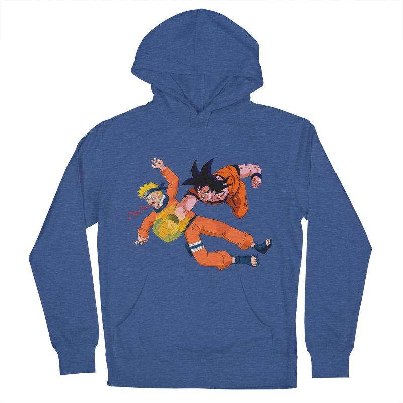 Gokuh vs Naruto Women's Pullover Hoody by artist's Artist Shop