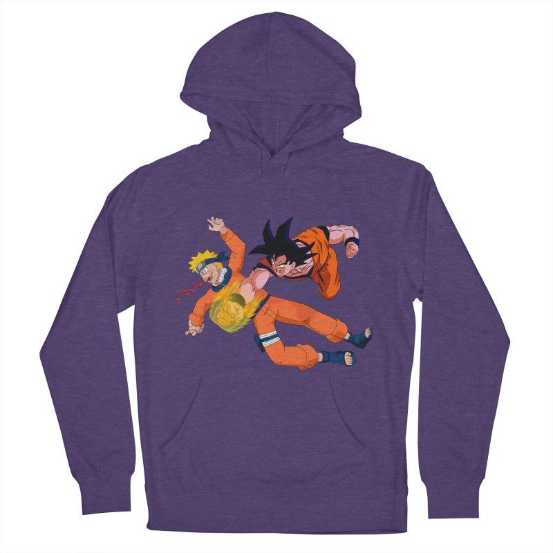Gokuh vs Naruto Men's Pullover Hoody by artist's Artist Shop