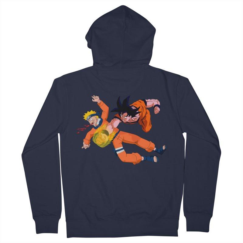 Gokuh vs Naruto Women's Zip-Up Hoody by artist's Artist Shop