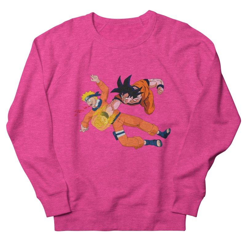 Gokuh vs Naruto Women's Sweatshirt by artist's Artist Shop