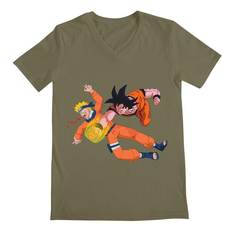 Gokuh vs Naruto Men's V-Neck by artist's Artist Shop