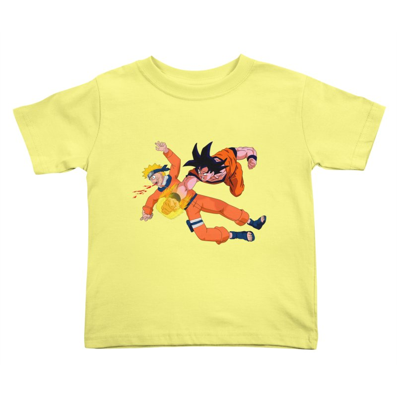 Gokuh vs Naruto Kids Toddler T-Shirt by artist's Artist Shop