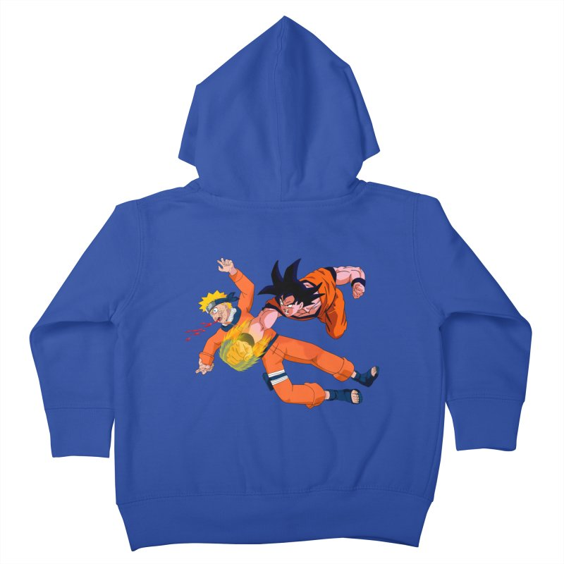 Gokuh vs Naruto Kids Toddler Zip-Up Hoody by artist's Artist Shop