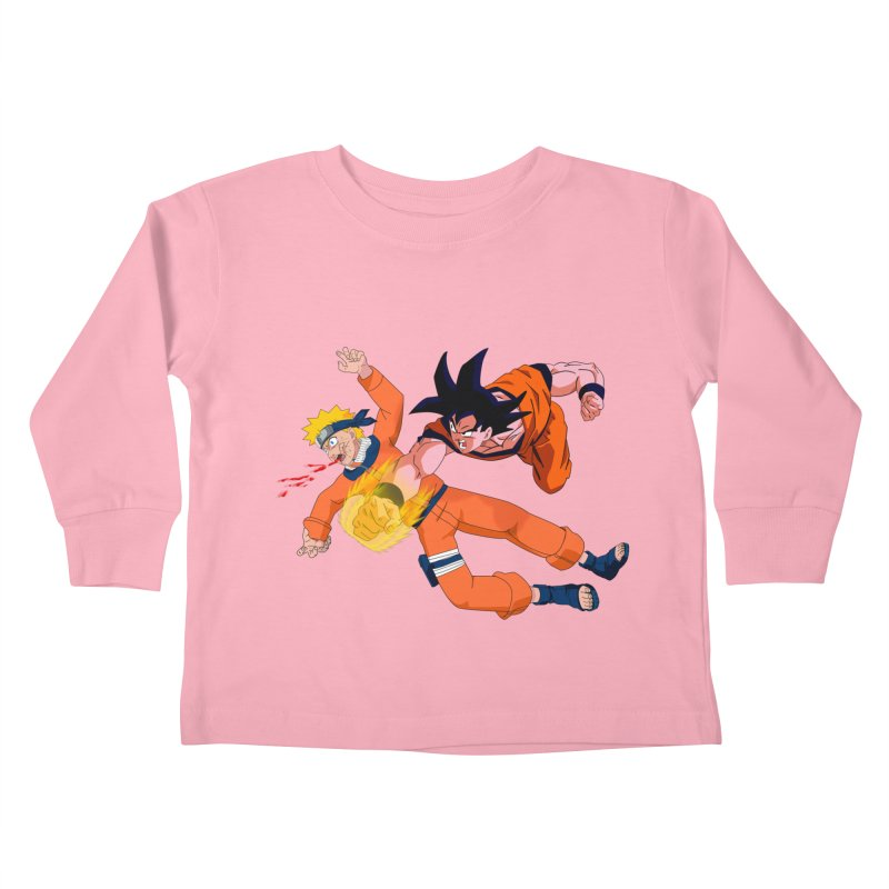 Gokuh vs Naruto Kids Toddler Longsleeve T-Shirt by artist's Artist Shop