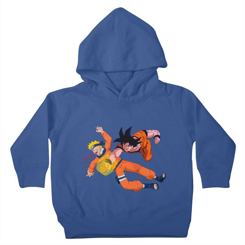 Gokuh vs Naruto Kids Toddler Pullover Hoody by artist's Artist Shop