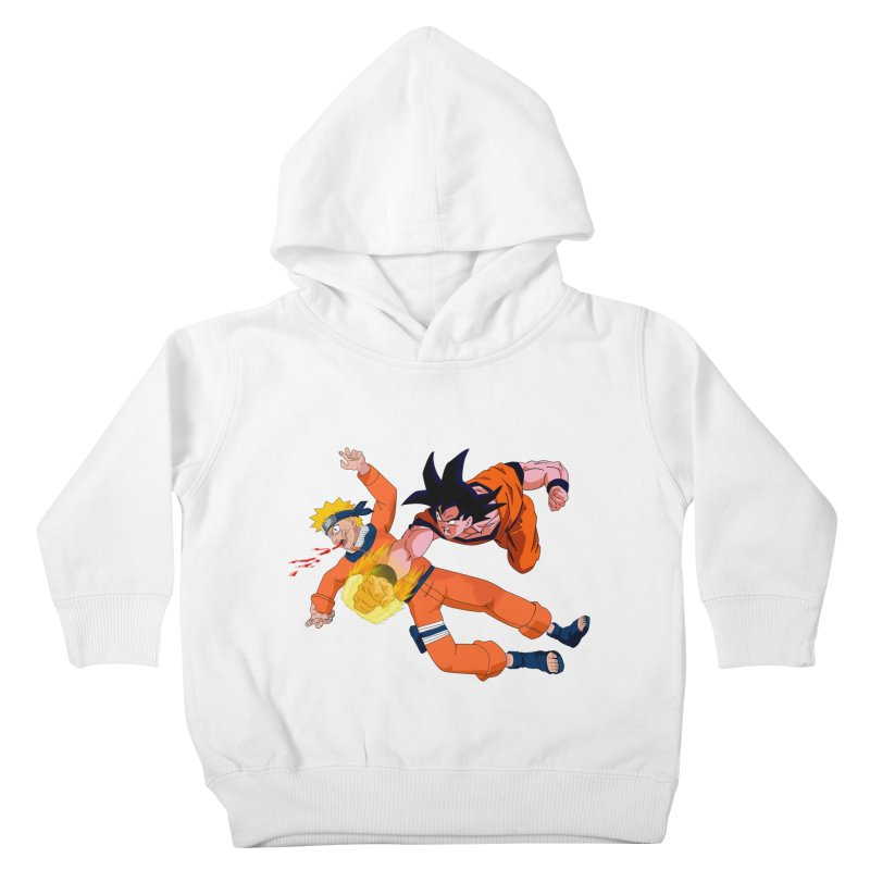 Gokuh vs Naruto Kids Toddler Pullover Hoody by artist's Artist Shop