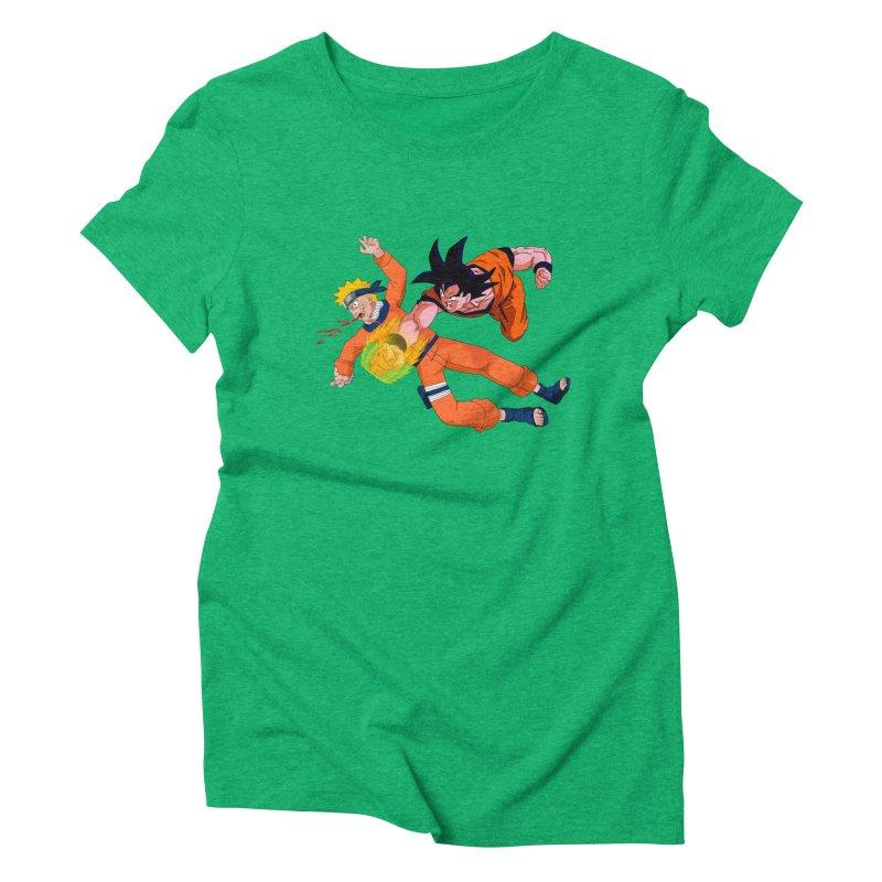 Gokuh vs Naruto Women's Triblend T-shirt by artist's Artist Shop