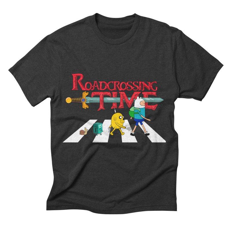 Roadcrossing time Men's Triblend T-shirt by artist's Artist Shop