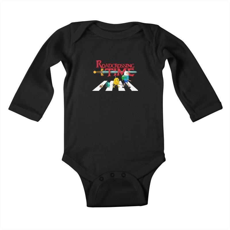 Roadcrossing time Kids Baby Longsleeve Bodysuit by artist's Artist Shop