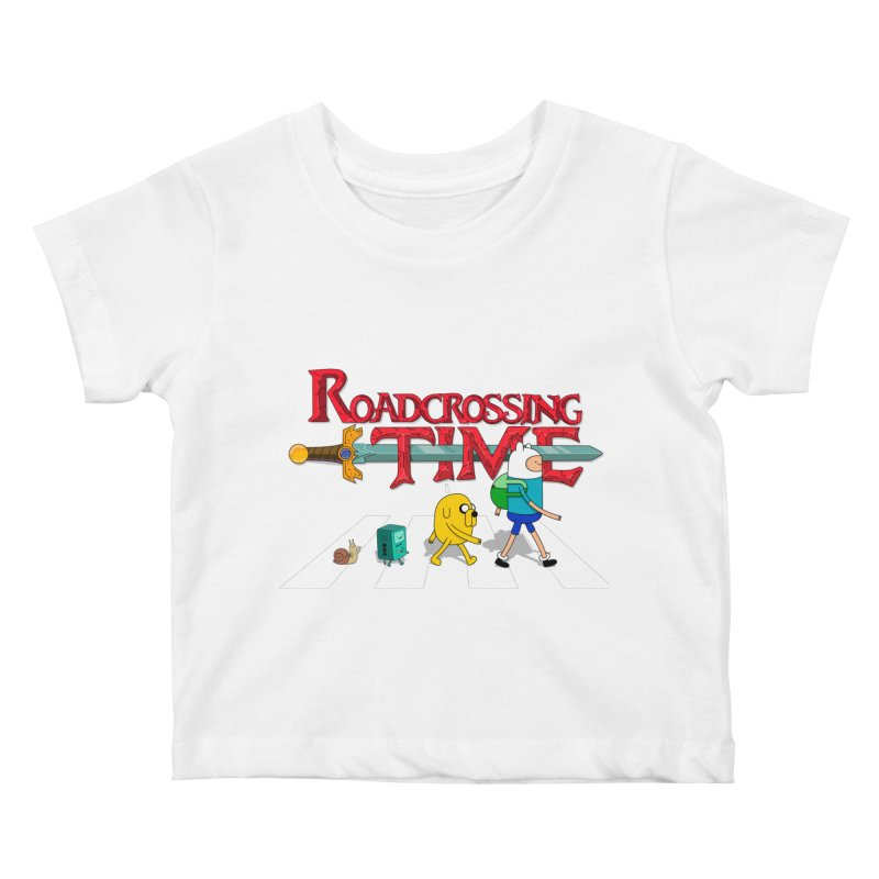 Roadcrossing time Kids Baby T-Shirt by artist's Artist Shop