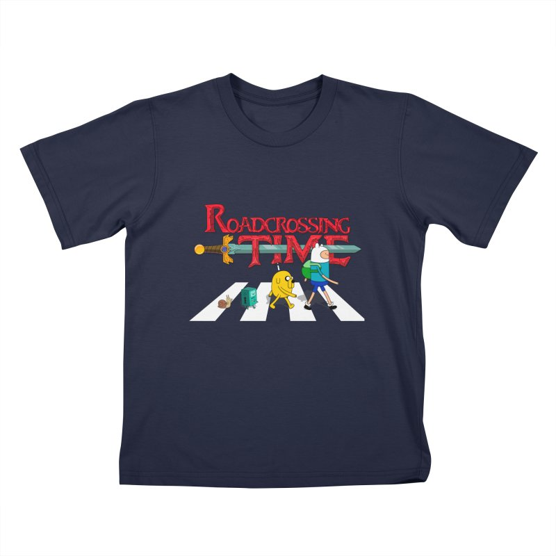 Roadcrossing time Kids T-shirt by artist's Artist Shop