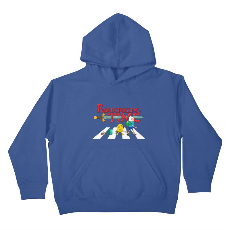 Roadcrossing time Kids Pullover Hoody by artist's Artist Shop